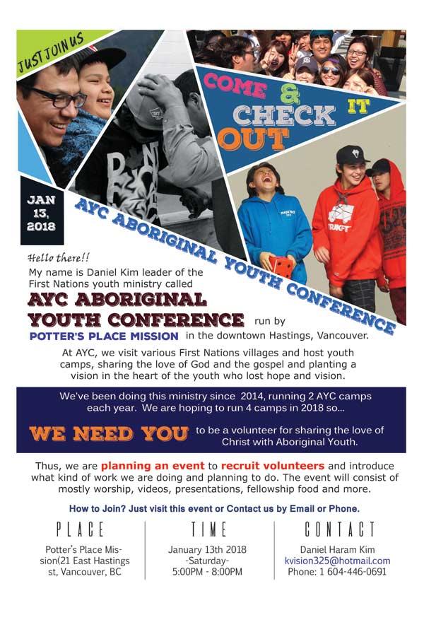 AYC Volunteer recruiting event
