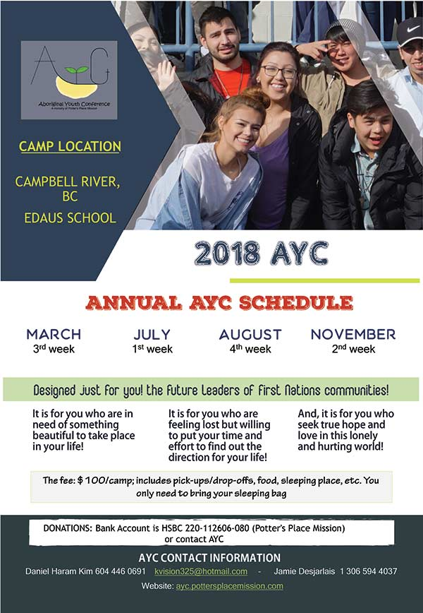 AYC Camp Schedule
