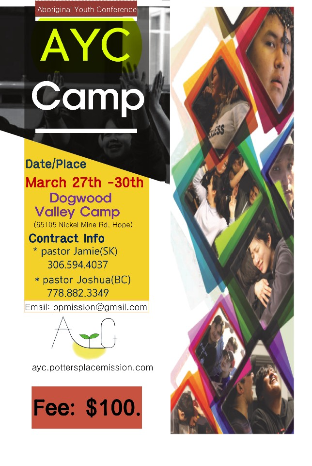 AYC Camp – March 27th – 30th